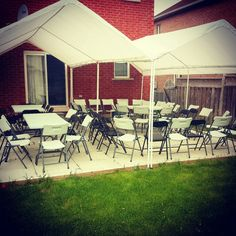 #weddings #party #events #tent #tents #tables #chairs #outdoor #awesome #beautiful #vintage #blackandwhite Outdoor Tent Party, Outdoor Decor, Tent Parties, Party Events, Tents, Tables, Chairs, Patio, Weddings