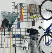 Garage organization --could use some of the old wire shelf pieces for this