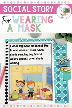 Wearing a mask, or seeing other people wear masks, can cause uncertainty, curiosity, or anxiety in many children. This social story was created to bring an understanding to children, about how and why we are currently wearing masks. This story is one that many children will be able to relate to and connect with. This story has a color and also black/white option for your printing preferences. Click here to create your social story today! Healthy Eating For Kids, Healthy Drinks, First Grade, Second Grade, Classroom Management Styles, Classroom Behavior, Social Stories, Dental Health, Classroom Organization