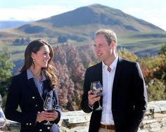 Pin for Later: 42 Times The Duke and Duchess of Cambridge Blew Us Away With Their Coordinated Style And They Sipped Wine in Laid-Back Button-Downs