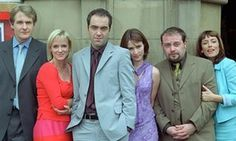Cold Feet: The original cast, with Helen Baxendale third from right.