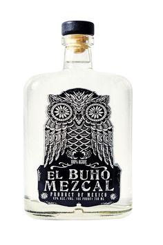 for owl lovers: El Buho Mezcal tequila Cool Packaging, Beverage Packaging, Bottle Packaging, Brand Packaging, Bottle Labels, Tequila Bottles, Liquor Bottles, Rum Bottle, Agave Mezcal