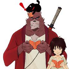 The Boy and the Beast reading Beast Film, The Beast Movie, Bakemono No Ko, Beast Wallpaper, Film D, Otaku, Yandere Simulator, Animation, I Love Anime