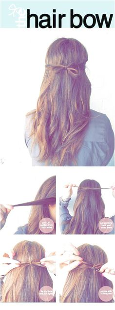 quick-and-easy-hairstyles-for-straight-hair-the-tidy-hair-bow-popular-haircuts-and-simple-step-by-step-tutorials-and-ideas-for-half-up-short-bobs/ SULTANGAZI SEARCH 5 Minute Hairstyles, Down Hairstyles, Straight Hairstyles, Easy Hairstyles For School, Haircuts For Long Hair, Medium Hair Styles, Short Hair Styles, Hair Medium, Cool Braids