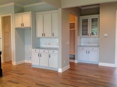 Partial view of kitchen and butlers pantry