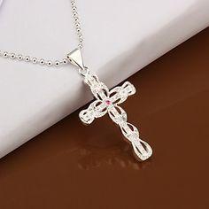 (1 Pc)European (Cross) As Picture Copper Pendant Necklace