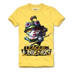 League of Legends LOL the Swift Scout Teemo Short Sleeve Cotton T-Shirt Free Shipping