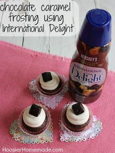 Chocolate Caramel Cupcakes :: Recipe on HoosierHomemade.com