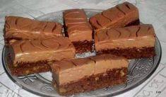 Csokihabos diós szelet Poppy Cake, Hungarian Recipes, Hungarian Food, Eat Pray Love, Cake Cookies, Nutella, Tiramisu, Ham, Cheesecake