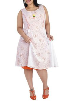 An Eyelet for Fashion Dress in Plus Size, #ModCloth