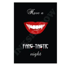 Printable Halloween Decoration  Have a FANGTASTIC by Inkshadow, $5.00