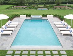 Bold Color Abounds in Mabley Handler-Designed Bridgehampton Home - The English Room Building A Swimming Pool, Swimming Pools Backyard, Swimming Pool Designs, Pool Landscaping, Lap Pools, Indoor Pools, Pool Spa, Pool Water, Modern Pool House