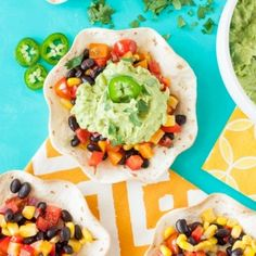 Get your guac fix with these tasty vegan Guacamole Tacos with Southwestern Veggie Salsa. They're super healthy and oh-so-delicious!
