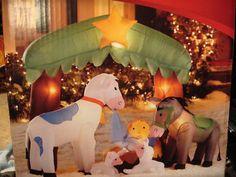 CHRISTMAS ANIMAL NATIVITY AIRBLOW INFLATABLE LIGHT YARD DISPLAY NEW