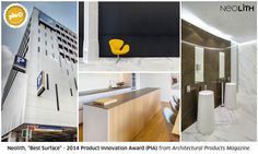 """#Neolith wins """"2014 Product Innovation Award"""" from #Architectural Products Magazine in the """"Surfaces"""" category. Thank you so much for this recognition, we keep working! #ExtraordinarySurface #PIA2014"""