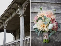 I will never stop loving the use of cameos on a bouquet.