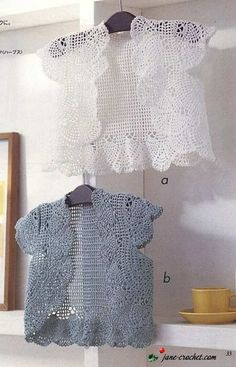 Crochet Top Or Vest - Free Crochet Diagram - (jane-crochet)