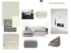 Grey And White Living Room Moodboard Created On Sampleboard