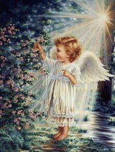 Angel Picking Flowers   Dona Gelsinger