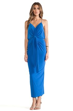 T-Bags LosAngeles Knot Front Maxi Dress in Periwinkle