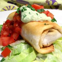 Beef and Bean Chimichangas - Allrecipes.com.. 4 1/2 stars, 770 reviews!!  these are baked, not fried!