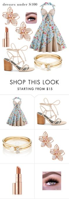 """Dress UNDER $100❣️"" by buggystella ❤ liked on Polyvore featuring Rebecca Minkoff, Loren Stewart, NAKAMOL and Estée Lauder"