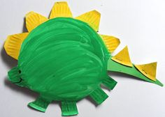 Roar like a dinosaur! Let's make dinosaurs together using paper plates!