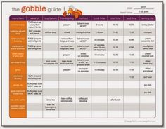 Thanksgiving Planning Guides