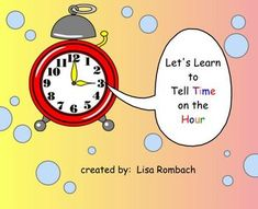 Telling Time on the Hour Math SmartBoard Lesson Primary Grades (.notebook file) $