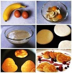 I think I can make these with an egg replacer :: Banana pancakes, healthy eating.just made these YUM! If you like banana pancakes these are amazing! I also included cinnamon 2 Ingredient Pancakes, No Egg Pancakes, Skinny Pancakes, Paleo Pancakes, Protein Pancakes, Pancakes Easy, Breakfast Pancakes, Health Pancakes, Making Pancakes