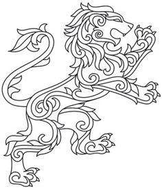 Gilded Heraldry - Lion design (UTH7829) from UrbanThreads.com