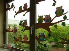 Locke: Everyday life has us again . - Fall Crafts For Kids Autumn Crafts, Fall Crafts For Kids, Diy For Kids, Owl Crafts, Diy And Crafts, Arts And Crafts, Paper Crafts, Decor Crafts, Classroom Window Decorations