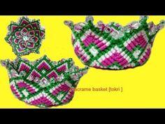 How to make Handmade Macrame Flower Basket Full step by step video tutorial  Design#3  Flower Basket - YouTube