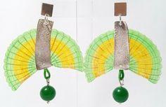 Aros, plata, crin y bola de jade verde. | nAutiLus-artE