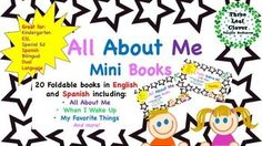 Students will enjoy writing about themselves and their interests in these fun foldable English and Spanish mini books. They are easy to assemble since there is no need to cut and staple! Simply fold the papers and your students have their own All About Me themed books.