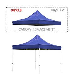 Cloud Mountain 9.8 X 9.8 Feet 1 Tier Pop Up Gazebo Replacement Canopy Cover 210D Oxford Fabric UV Resistent Waterproof Royal Blue Review https://homepatiogarden.net/cloud-mountain-9-8-x-9-8-feet-1-tier-pop-up-gazebo-replacement-canopy-cover-210d-oxford-fabric-uv-resistent-waterproof-royal-blue-review/