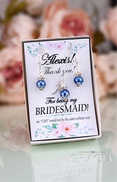 "TopGracia Offers Fabulous Bridal Party Gifts with ""Thank You"" Notes  #topgraciawedding #bridal #party #gifts #thankyou #weddinggift #giftforher #giftforwomen"