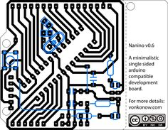 Single sided Arduino clone.  PCB etching first experiment?