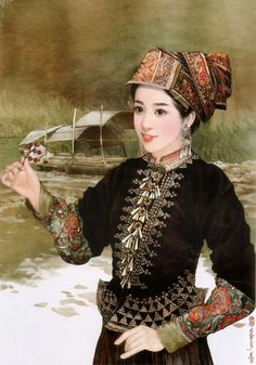 Chen Shu Fen's amazing illustrations of traditional dress from 56 different ethnic groups in China.