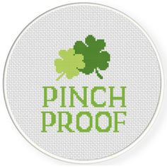 FREE for March 6th 2017 Only - Pinch Proof Cross Stitch Pattern