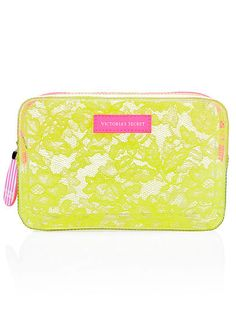 Summer Beach Bag Must Have! Medium Jelly Lace Cosmetic Bag Victoria's Secret
