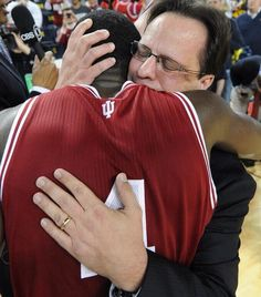 Awesome moment between Tom Crean & Victor Oladipo.