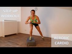 20 Minute Full Body Steps Workout Calorie Burning Step Up Cardio Training Routi. Workout for Beginners Step Aerobic Workout, Step Up Workout, 20 Minute Workout, Aerobics Workout, Best Cardio Workout, Aerobic Exercises, Exercice Step, Benefits Of Cardio, Exercise Workouts