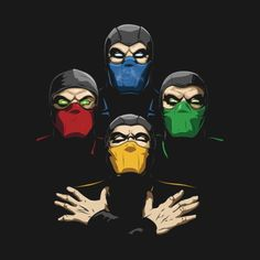pixalry: Mortal Rhapsody - Created by Amo DesignsAvailable for... Sub Zero Mortal Kombat, Escorpion Mortal Kombat, Mortal Kombat Shirt, Reptile Mortal Kombat, Geeks, Ninja Art, Chef D Oeuvre, Fighting Games, Video Game Art