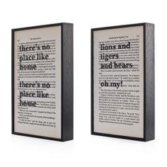Wizard Of Oz - Pair Of Framed Illustrations - Product Id 4946 from Gift Wrapped & Gorgeous by Wall Envy Art