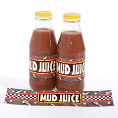 Monster truck party - mud juice label