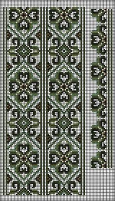 Beading _ Pattern - Motif / Earrings / Band ___ Square Sttich or Bead Loomwork ___ Cross Stitch Bookmarks, Cross Stitch Borders, Cross Stitch Flowers, Cross Stitch Charts, Cross Stitch Designs, Cross Stitching, Cross Stitch Patterns, Ribbon Embroidery, Cross Stitch Embroidery