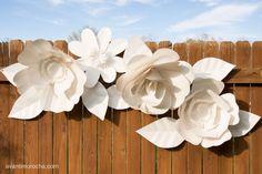 DIY Giant Paper Flower Backdrop