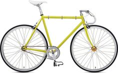 Single speed Fuji Feather bike.