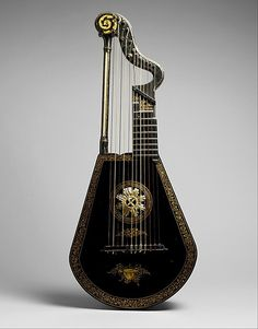 Harp Lute Edward Light  (active 1780-1820)  Date:     ca. 1815 Geography:     London, England, United Kingdom Medium:     Wood, lacquered and gilded